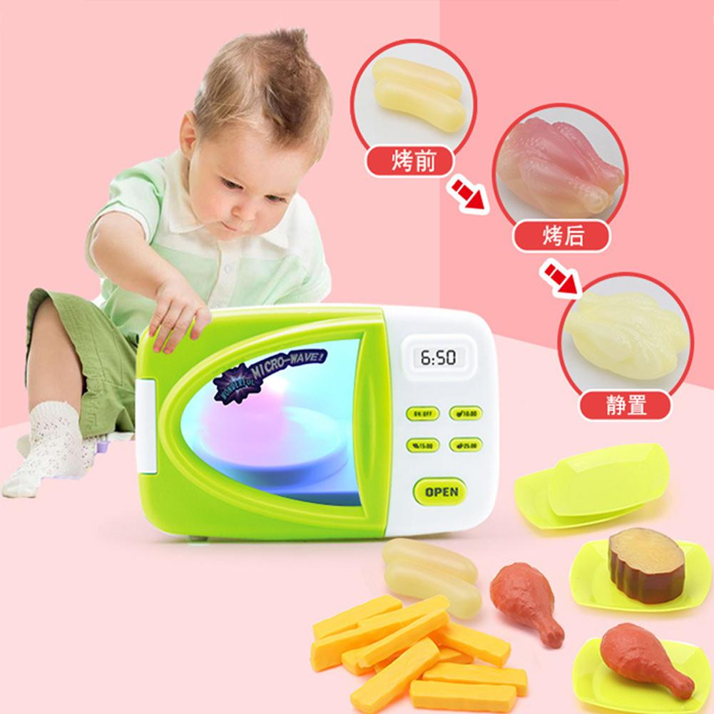 Best Price Wonderful Toy Children Simulation Microwave Oven Toy With Food Role Play Kitchen Toys Set