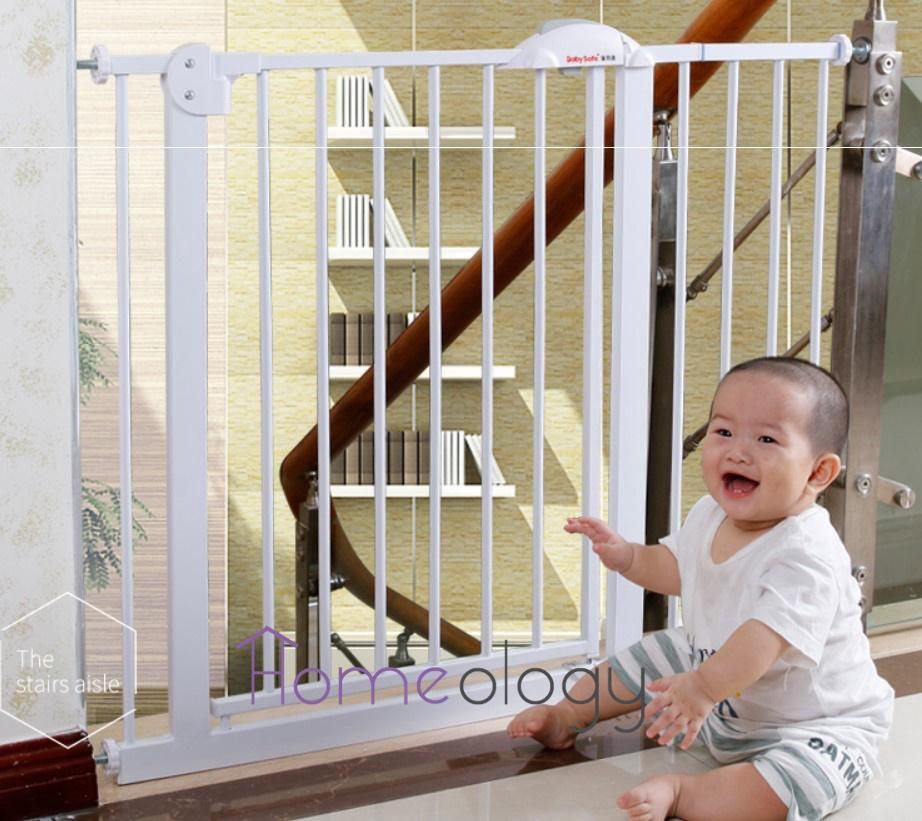 75cm-200+cm Steel Premium Baby Safety Gate Safe Fence For Baby Pet Metal Gate Two Way Auto Swing By Ology Warehouse.