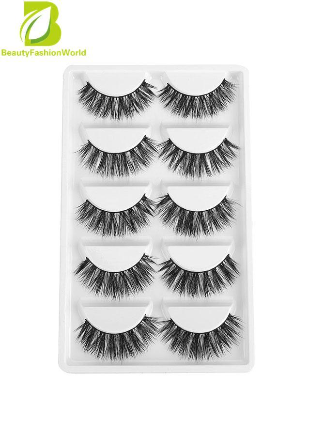 5 Pairs Fake Eye Lashes 3d Mink Handmade Long Thick False Eyelashes Makeup - Intl By Beautyfashionworld.