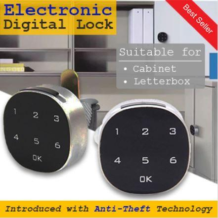 ★SG LOCAL WARRANTY★Digital Lock★Electronic HDB Keyless Mail/Letter BoxLock  ★ Keyless Cabinet Lock★ Cam Lock