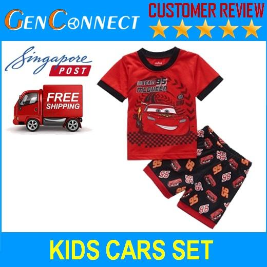 Kids Short Sleeve Shirt And Pants Batman Cars Pyjamas Sleepwear Set For Children By Genconnect.