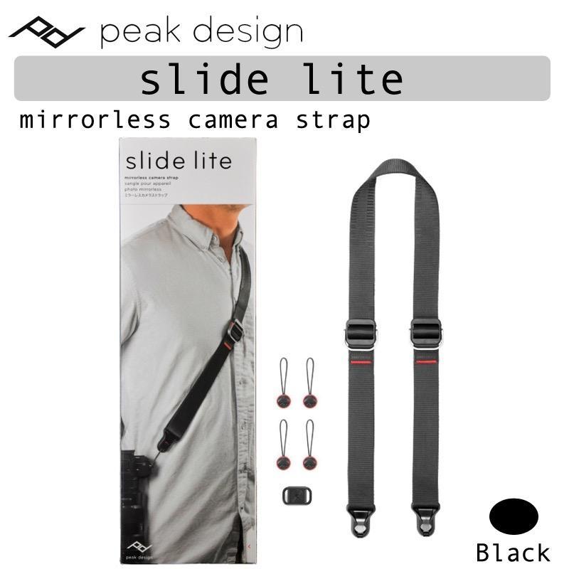 Peak Design Black Slide LITE DSLR Mirrorless Camera Strap SLL-BK-3