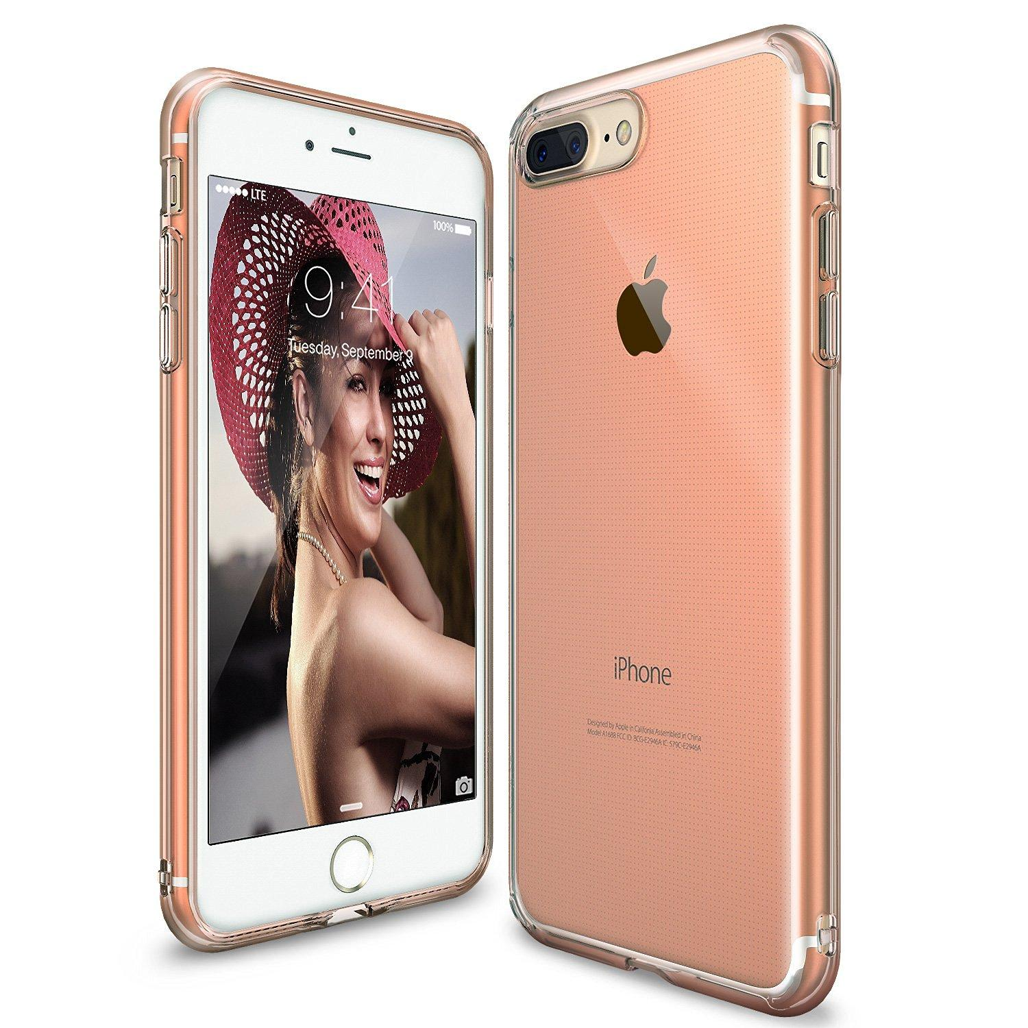 Buy Ringke Phone Cases Accessories Rearth Iphone 7 Edge Black Air Lightweight Thin Slim Case Plus 8 Rose Gold