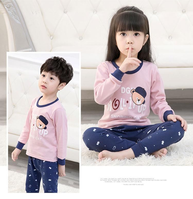 Big Kids Pyjamas /children Family Couple Pyjamas Set Up To Size 180cm Boys [pjn18] By Jolly Sg.