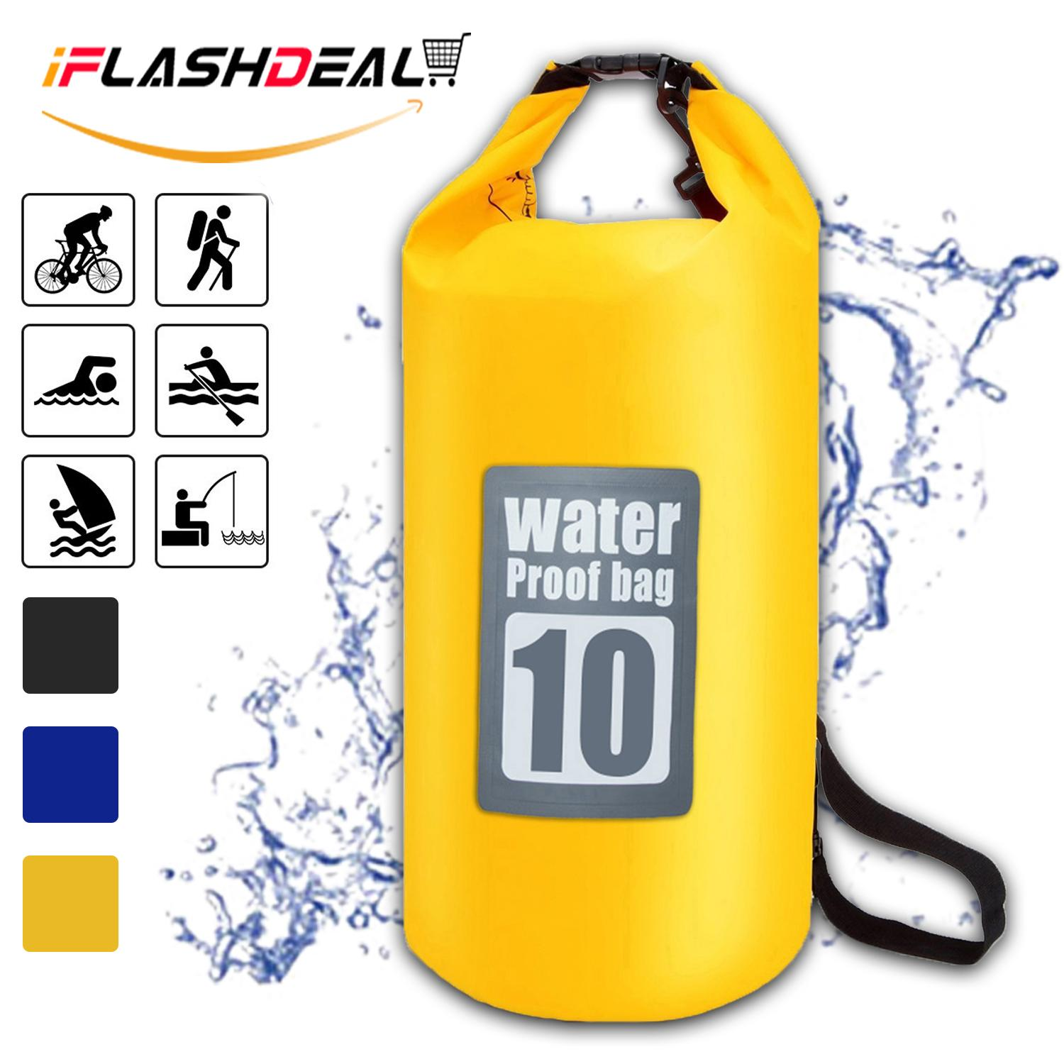 Iflashdeal Waterproof Roll Top Dry Bag Floating Dry Compression Sack Keeps Gear Dry For Kayaking, Canoeing, Beach, Rafting, Boating, Snowboarding, Hiking, Camping And Fishing 10 L By Iflashdeal.