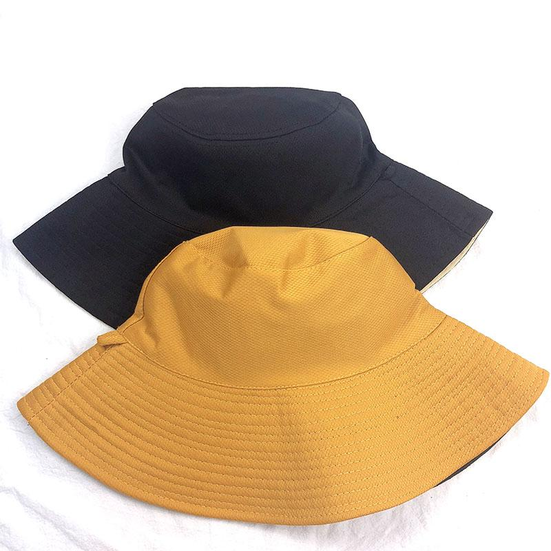 9c8884d87301f6 Korean Style Double-Sided Solid Color Bucket Hat Female Summer Normcore  Style Big Brim Bucket