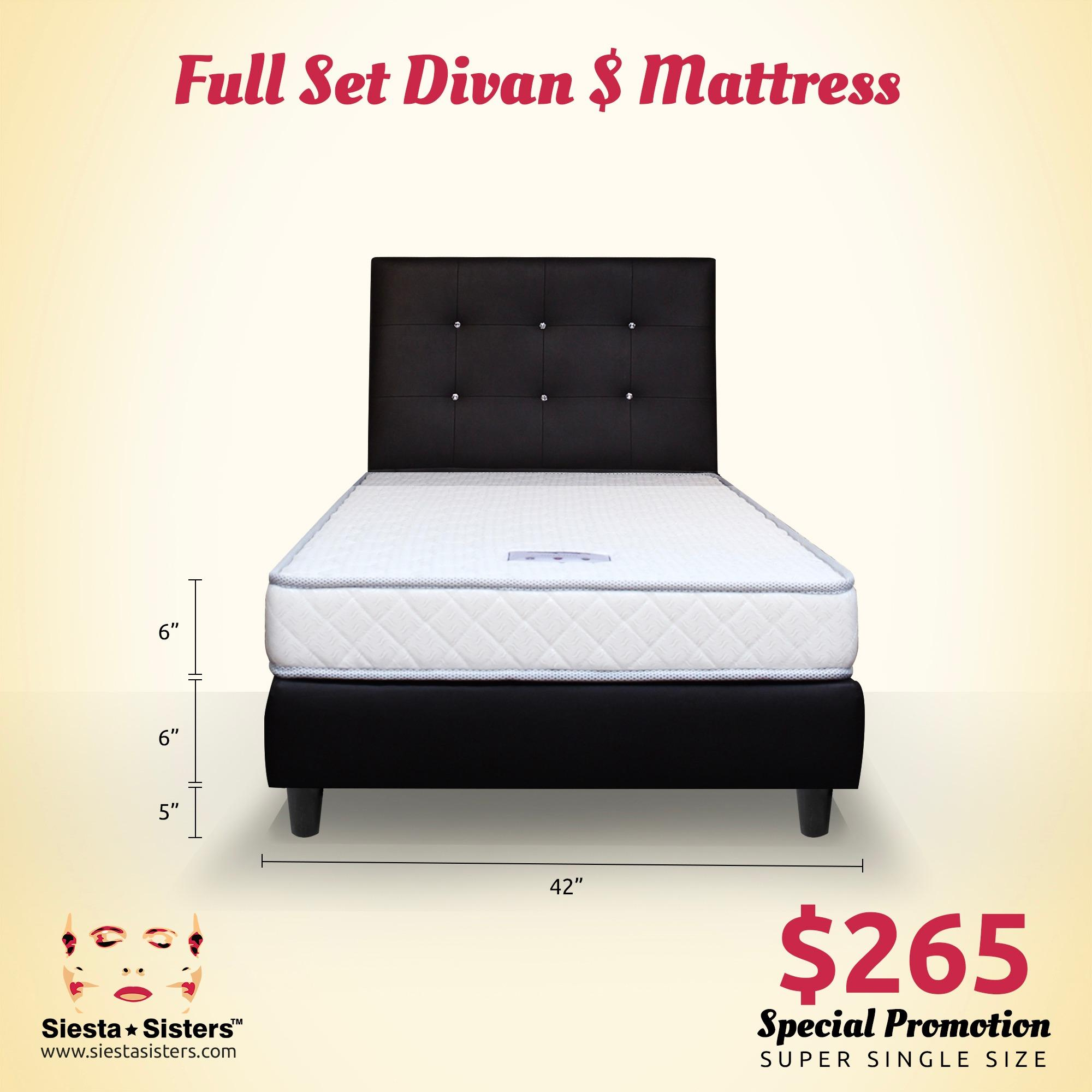 Best Offer Super Single Foam Mattress With Divan Bed Frame
