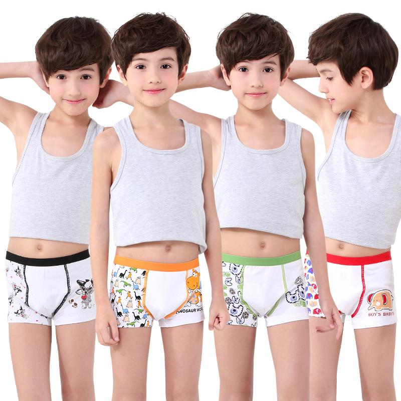 bf67d6c171e8 Summer Boy's Underwear Cotton Children Boxers Kids Boxers Teenager Big Boy  Boxers Shorts
