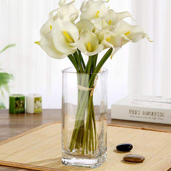 Simple Square-shaped Transparent Glass Vase