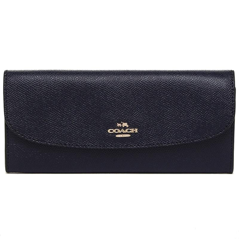 d7dc2fca3e24 Coach Soft Long Envelope Wallet In Crossgrain Midnight Blue
