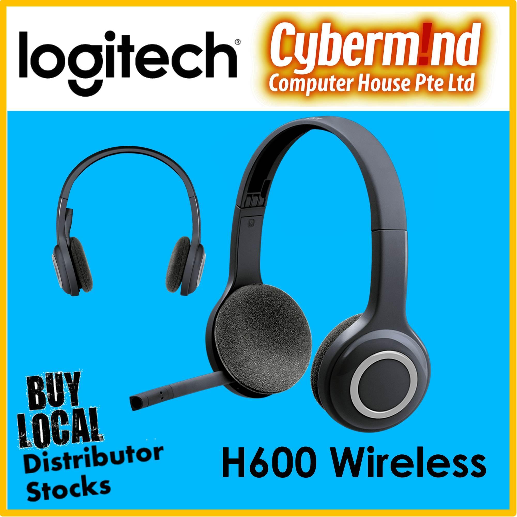 cf3c9e86829 Logitech H600 Wireless Headset for Computer via USB receiver (Local  Distributor Stocks)