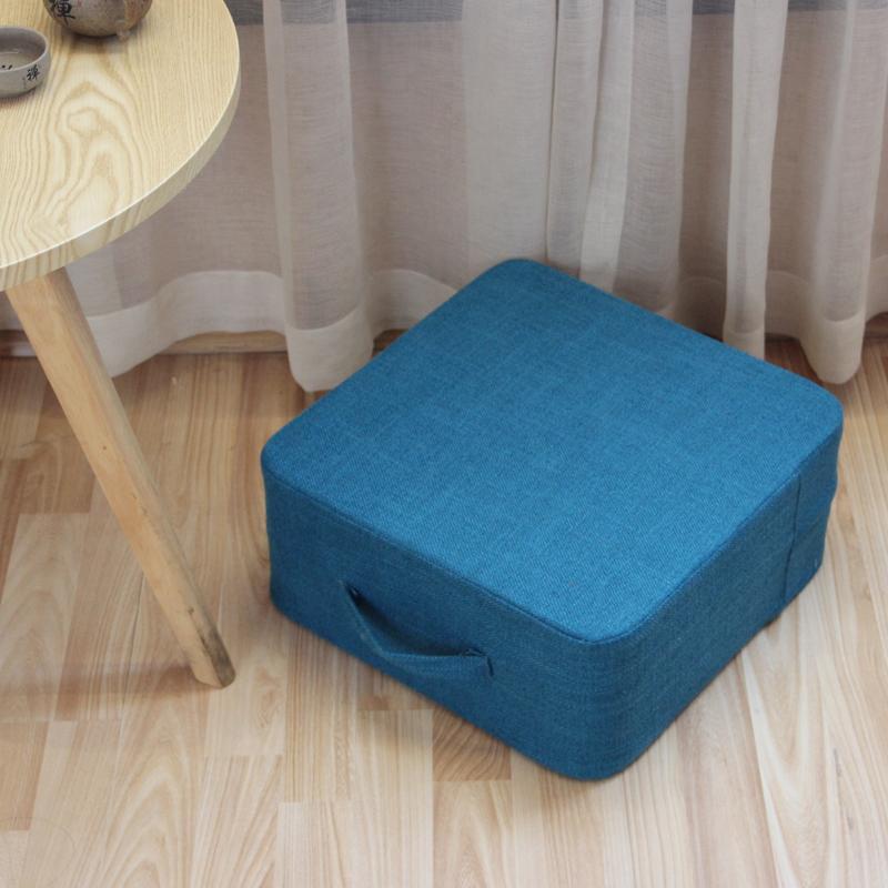 Linen floor thickened Japanese coaster a futon.