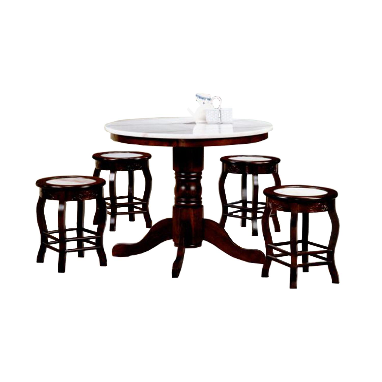 Beckett Dining Set (1+4 MARBLE TOP)