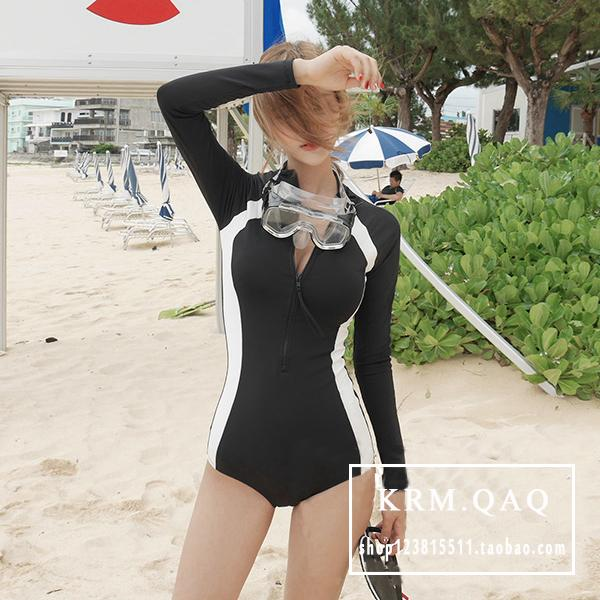 Womens Korean-Style Long Sleeve Swimming Suit By Taobao Collection.