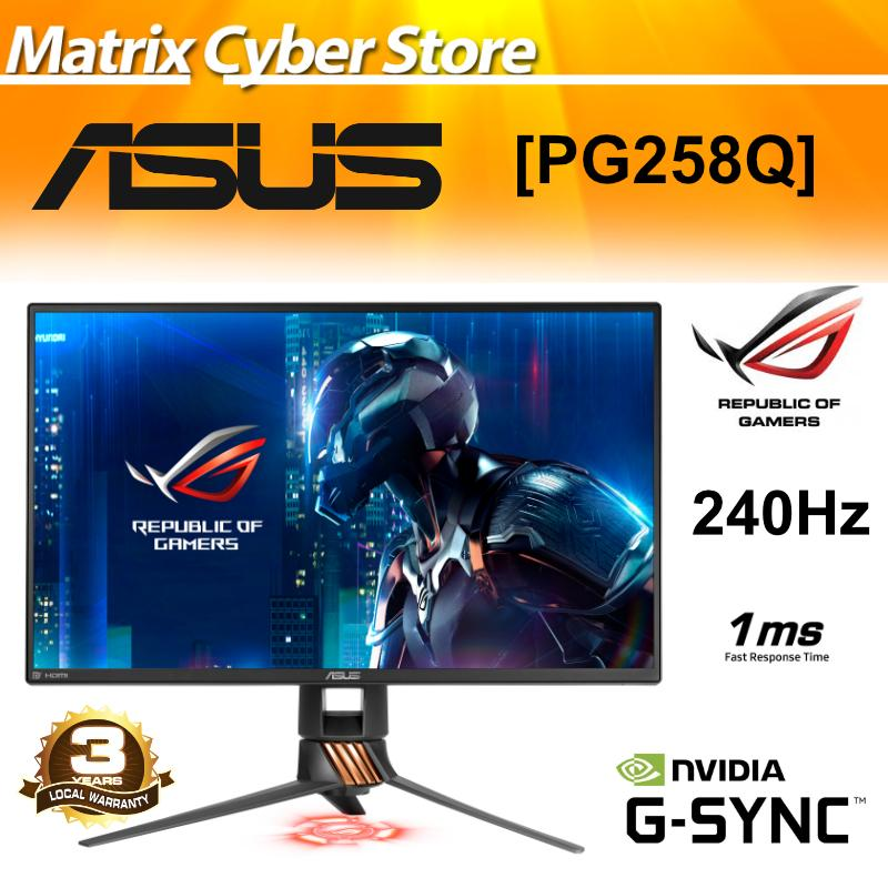 ASUS ROG Swift PG258Q 24.5 Full HD 1080p 1ms 240Hz DP HDMI Eye Care G-SYNC eSports Gaming Monitor