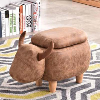 Jiji (kids Animal Ride Storage Chair Stool - Small Bull W/ Storage) / Childrens / Kids Storage / Storage Stool / Stool With Storage / Animal Stool / (sg) By Jiji.