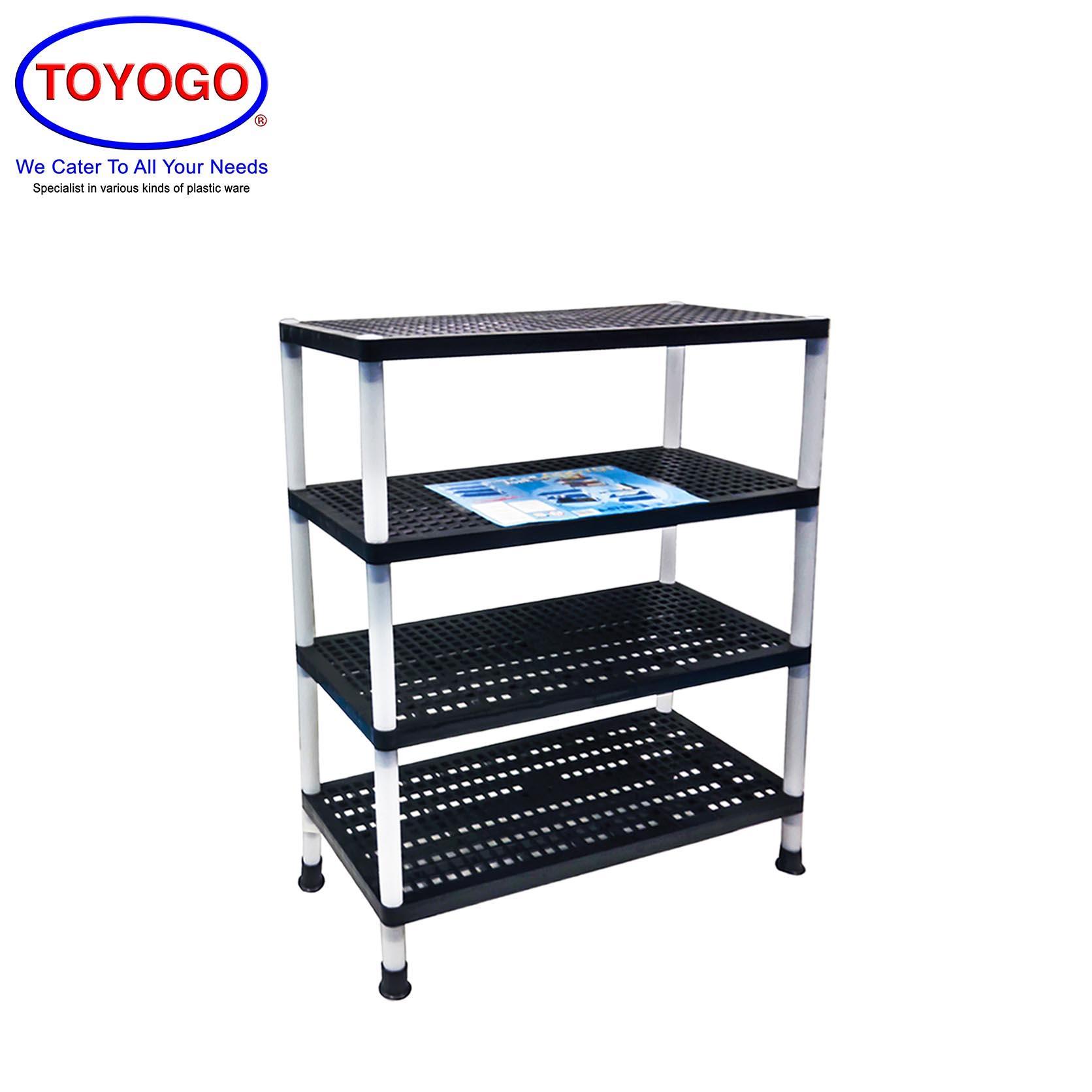 Toyogo [4 Tier] Plastic Multipurpose Rack [4219-4]
