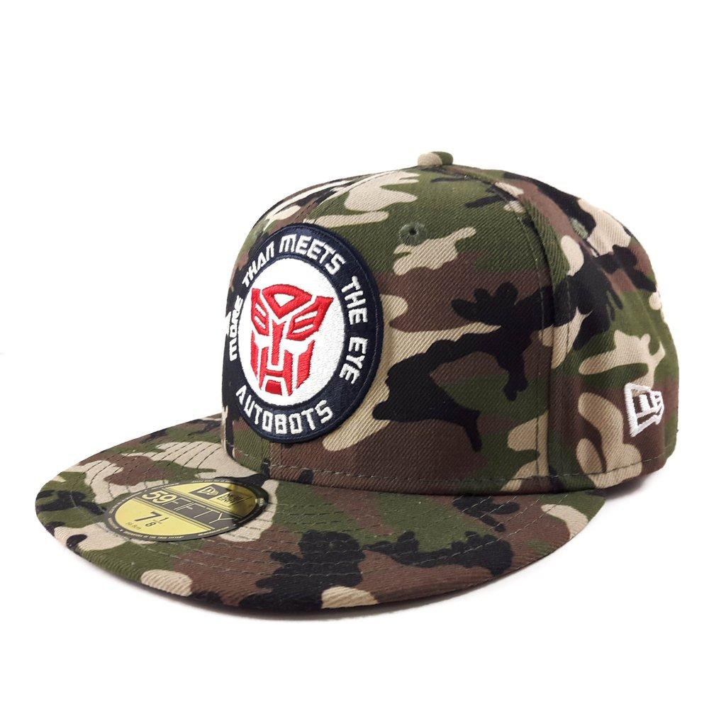 1283355218b New Era Transformers 59FIFTY Fitted Cap 11064730 Camo B1