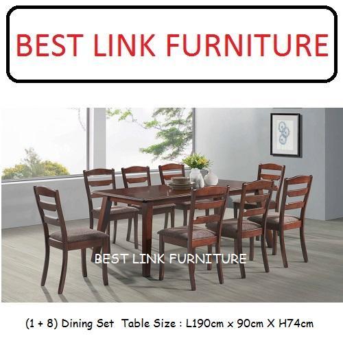 BEST LINK FURNITURE BLF Minnie (1 + 8) Dining Set
