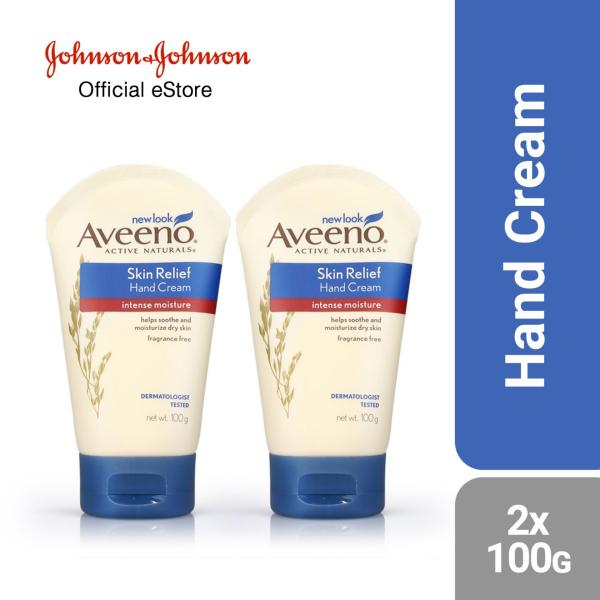 Buy Aveeno Hand Cream Skin Relief 100g x 2 pcs Singapore