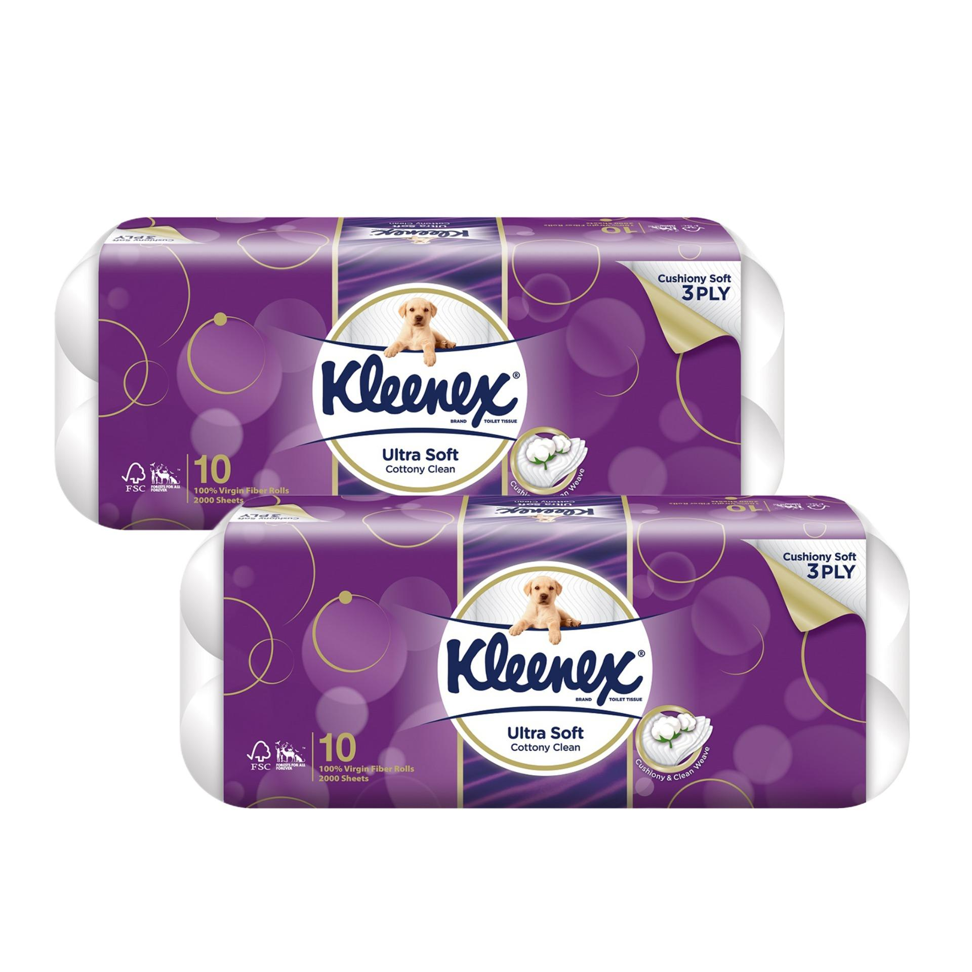 Kleenex Clean Care Toilet Tissue 10x200sheets X 2 By Kimberly Clark Official Store.