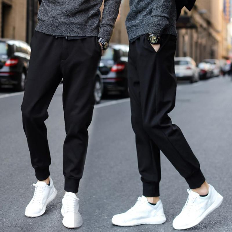 9e53a18fb42 Pants Male Casual Pants 2017 Spring Summer Trend Shut Skinny Sweatpants  Students Sports Harem Pants Beam