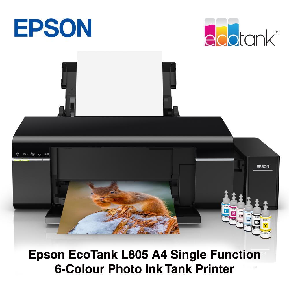 Epson EcoTank L805 A4 Single Function 6-Colour Photo Ink Tank printer  Singapore