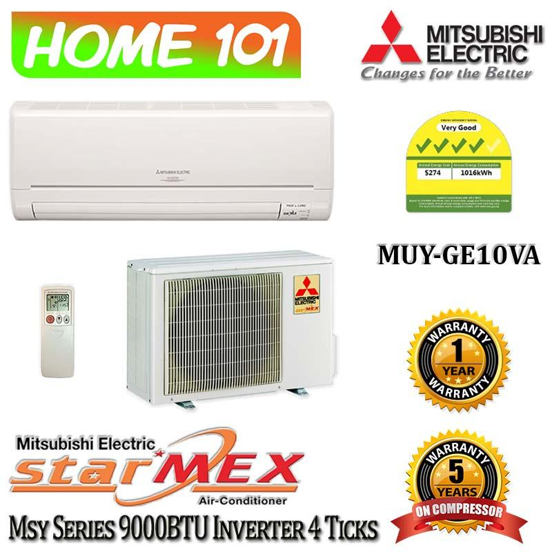 Discount Mitsubishi Single Split Series Single Aircon 9000Btu System 1 Available In Muy Ge10Va With Replacement Services Mitsubishi Electric