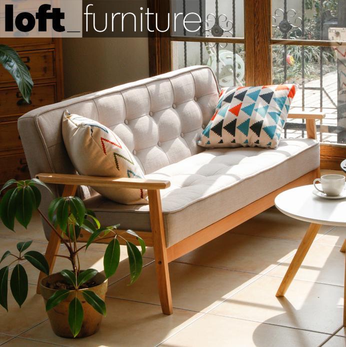 Sofa – Fine Linen / Fabric & Solid Wood Sofa By Loft_home Furniture.