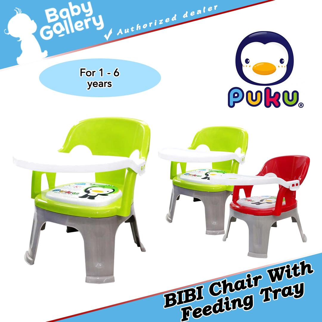 Puku BIBI Kid Chair With Feeding Tray (Green)