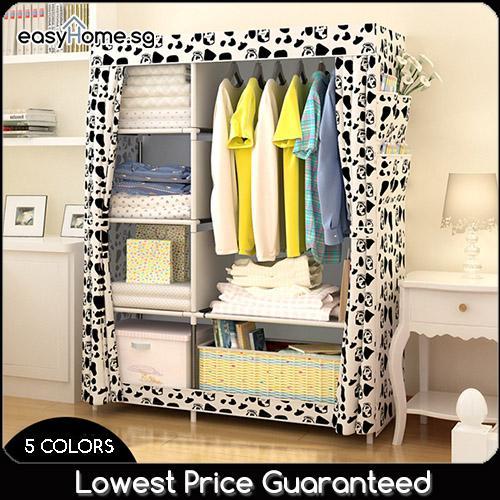 Wardrobe GY02 - Clothes Rack/ Closet / Hanger Shelves Storage
