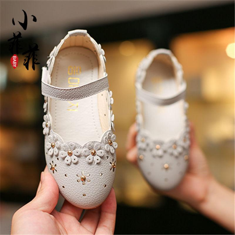 Girls Peas Leather Shoes 2018 Summer Children s Shoes Korean Style Children  Soft Bottom Princess Shoes Little 2313b698b33f