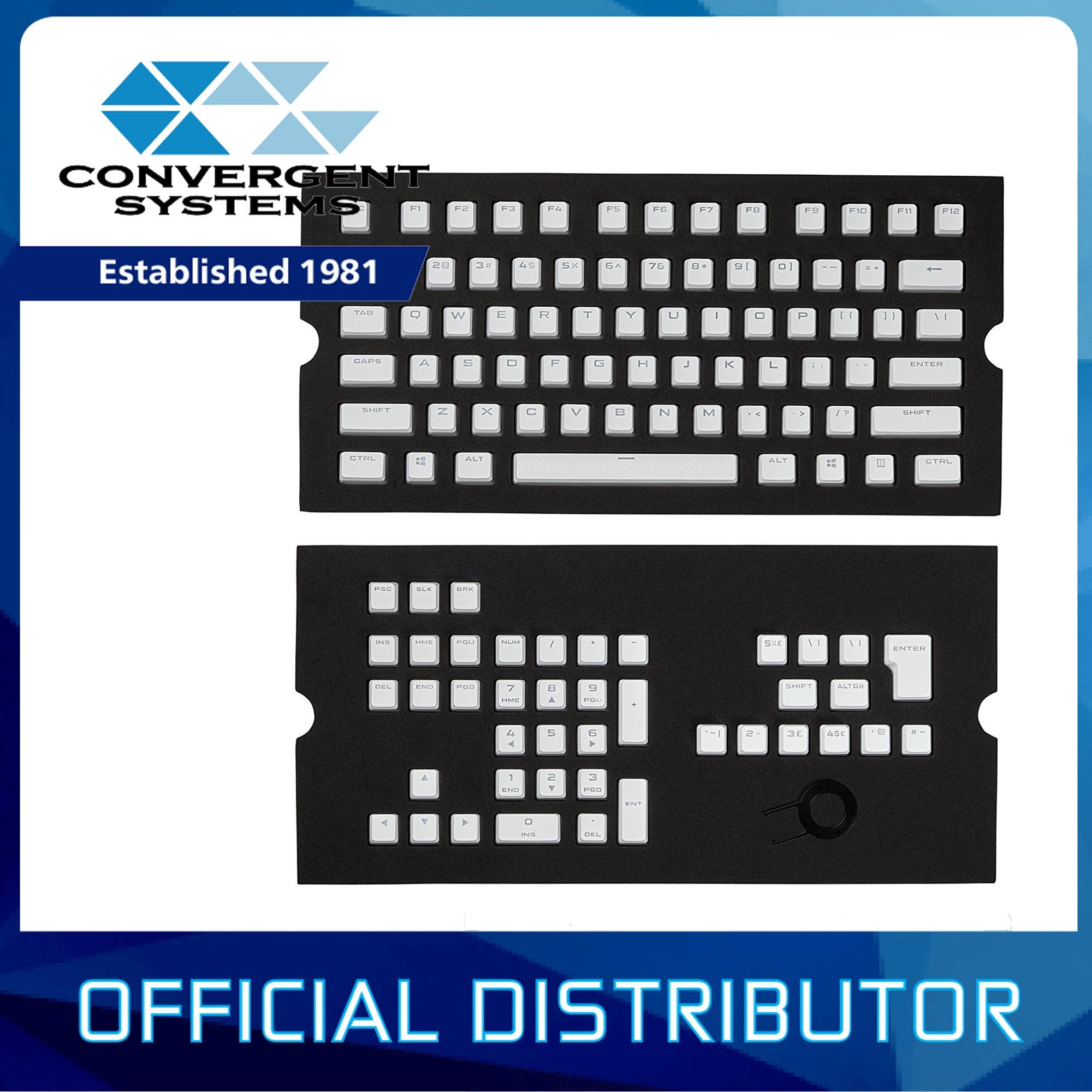 Corsair Computer Accessories K66 Mechanical Cherry Mx Red Black Color Gaming Pbt Double Shot Keycaps Full 104 105 Keyset
