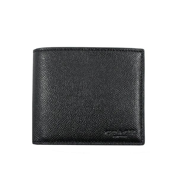 NEW ARRIVAL Coach Compact ID Wallet In Crossgrain Leather (F59112) With Coach Gift Box