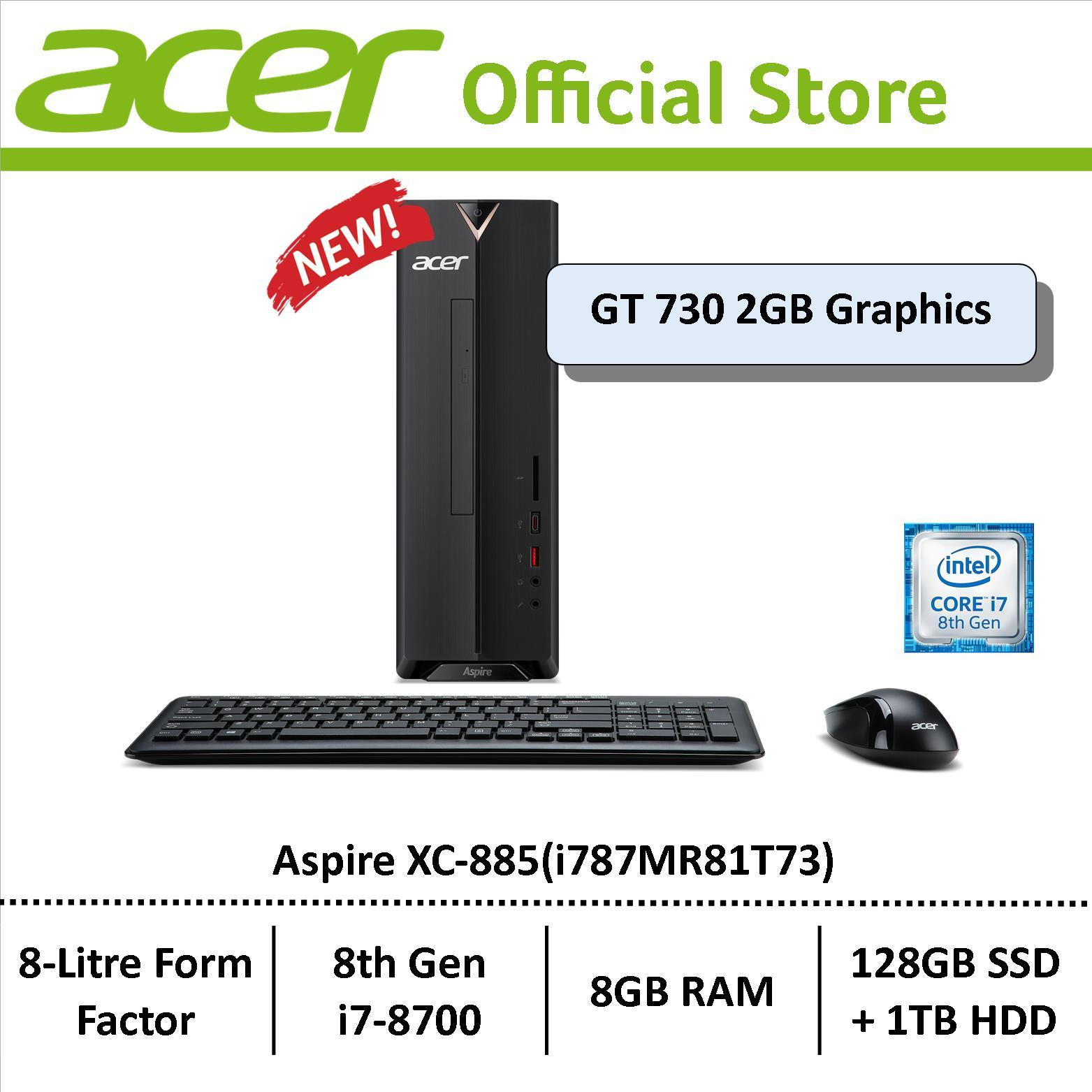 Acer Aspire Xc-885 (i787mr81t73) Mini-Desktop By Acer Official Store.