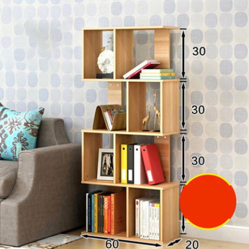 JIJI (Free Installation) Cheryl S-Shape Bookshelves ( Narrow) (3/4/5 Tiers)(Bookcases & Shelving) - Shelves / Bookcases / Bookshelf / Storage / Organizer /Furniture /Open Cabinet/ Free 12 Months Local Warranty (SG)