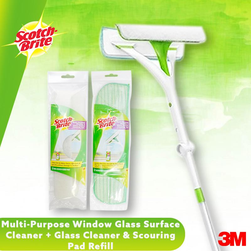 3m Multi Purpose Window Glass Surface Cleaner+cleaner Cloth Refill+scouring Pad Refill By 3m Official Store.