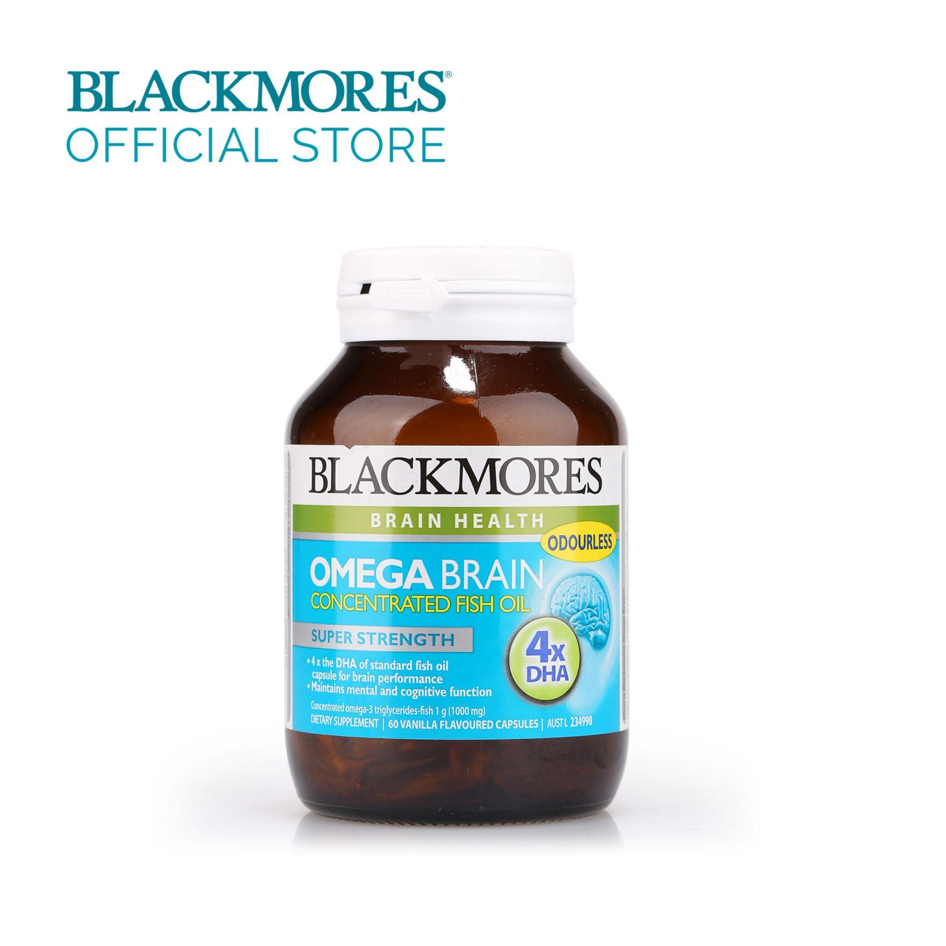 Blackmores Omega Brain 1000mg 60caps By Blackmores Official Store.