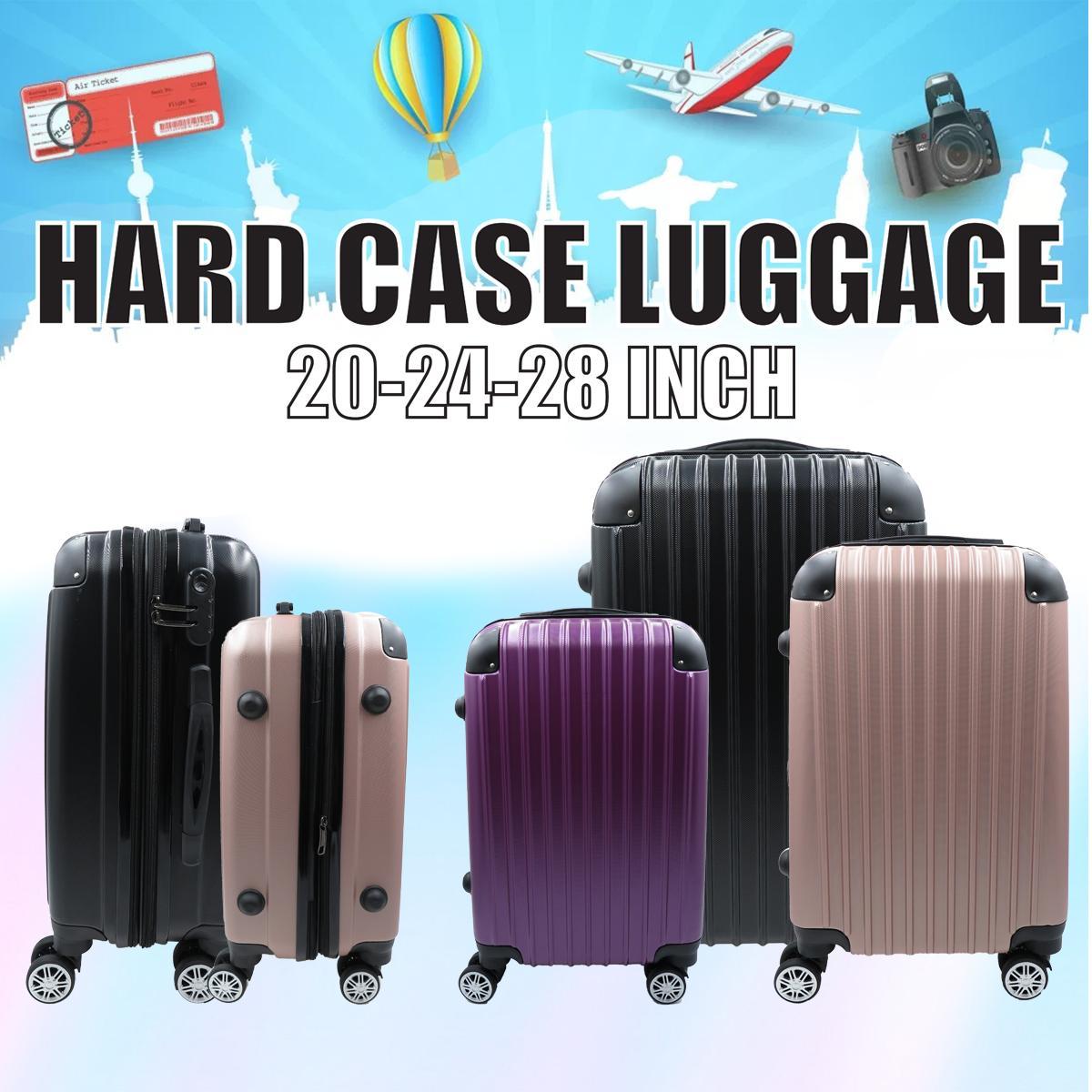 Hard Case Luggage 20-24-28 Inch (l400) By Moda Paolo.