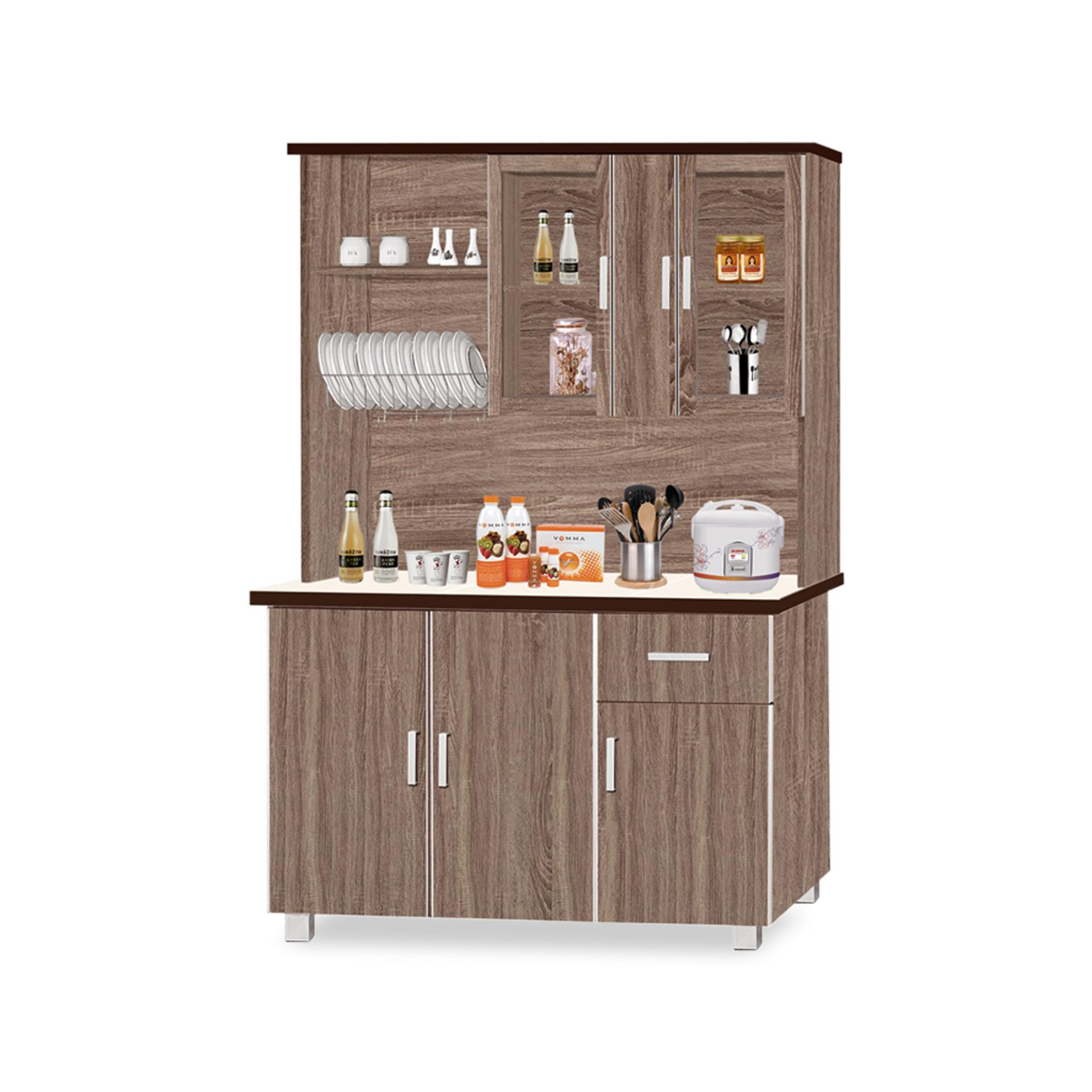 Matthew Dining Cabinet With Top (FREE DELIVERY)(FREE ASSEMBLY)