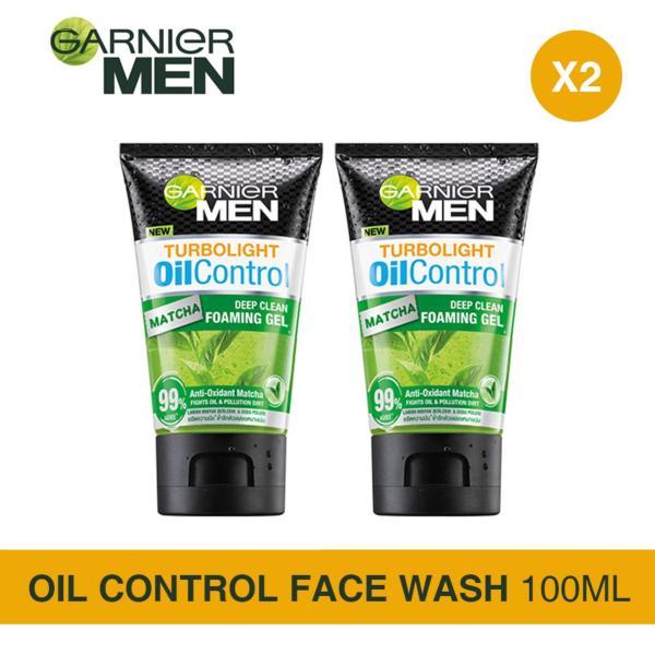 Buy [Bundle of 2s] Garnier Men Turbo Light Oil Control Matcha Gel Cleanser Singapore