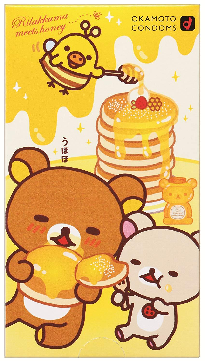 Okamoto Rilakkuma Love Love Hot Condoms Pack Of 10 By Okmt.