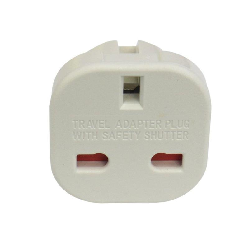 QNSTAR White EU Plug to UK/AU Plug 2 pin Universal Travel Wall Plug Socket Adaptor White