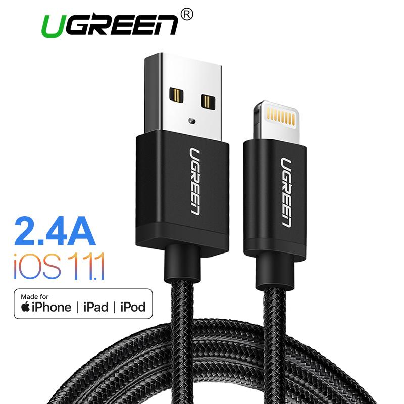 Price Ugreen 1Meter Metal Alloy Original Usb Lightning Cable Usb Charger Cord Nylon Bradied Design For Iphone 4 5 6 7 8 X Ipad Intl Online China