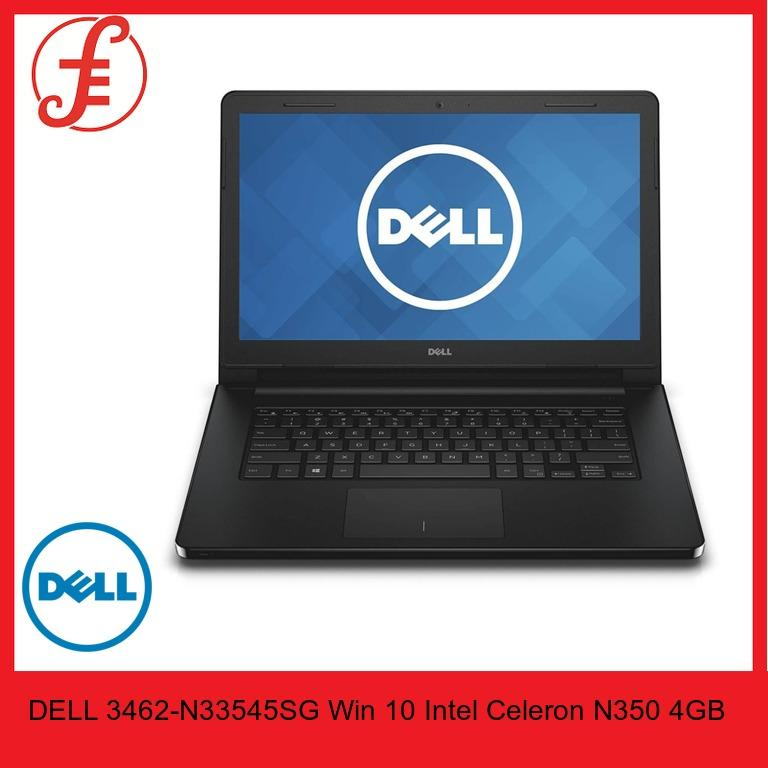 DELL 3462-N33545SG Win 10 Intel Celeron N350 4GB RAM 500GB HDD 14 Inches Screen