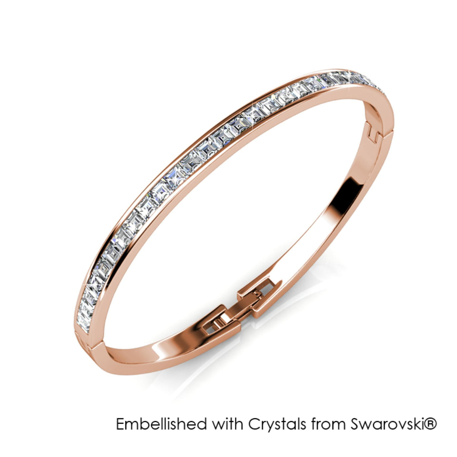 200453617dee6 Chic Bangle (Rose Gold) - Embellished with Crystals from Swarovski®