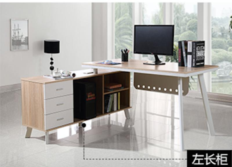 UMD L-shaped manager table study table computer table K020-160 (Refer to color family option for side cabinet orientation choice only)