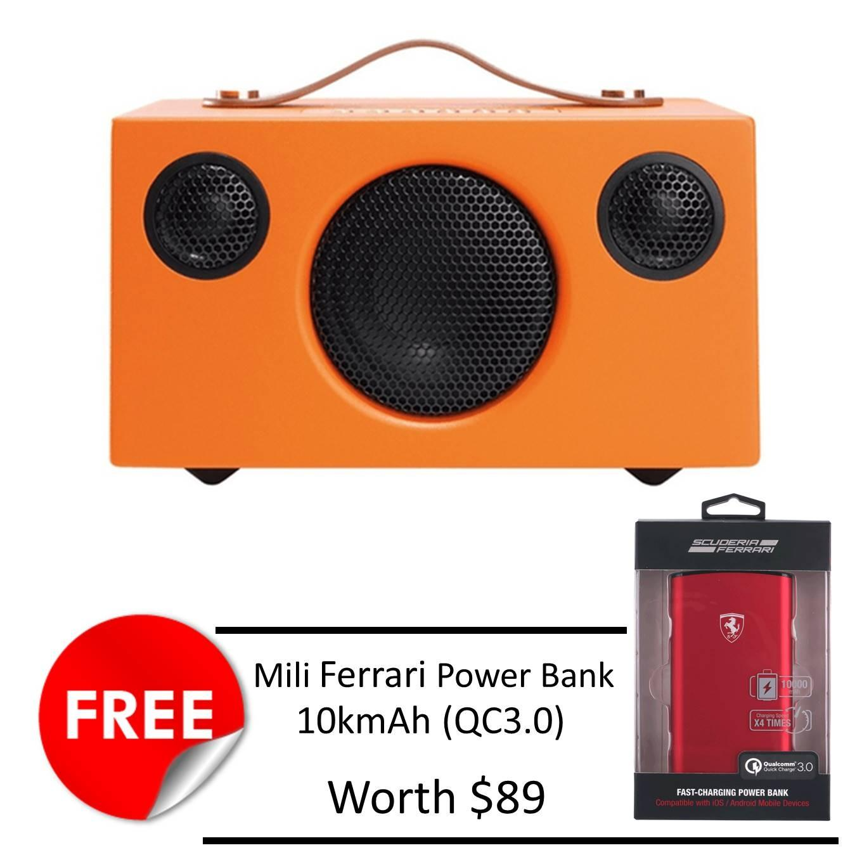 Audio Pro Addon T3 Speaker Orange Free Mili Ferrari 10K Mah Powerbank For Sale