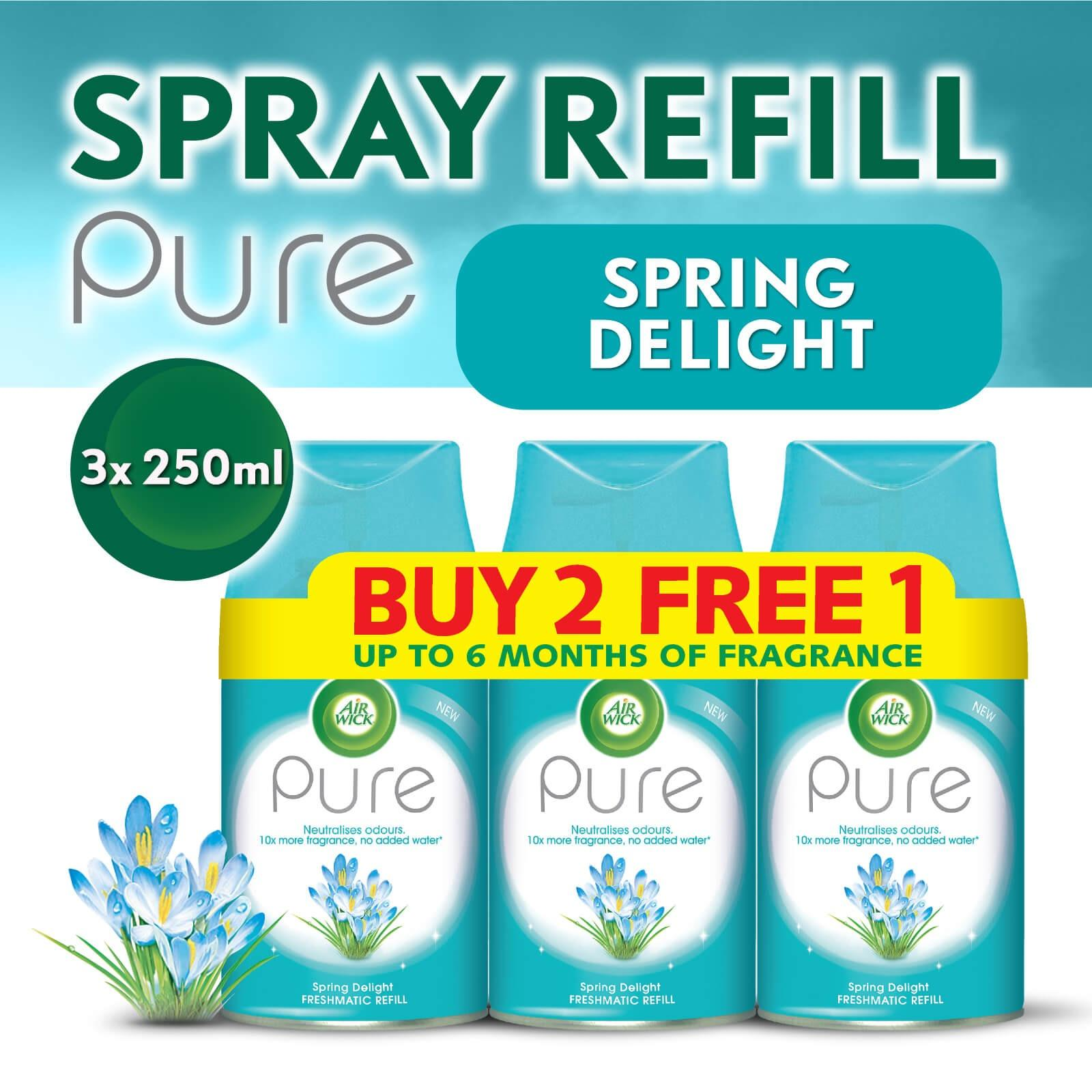 Air Wick Pure Freshmatic Refill Spring Delight Buy 2 Get 1 Free Triple Pack 250ml Air Care / Freshener