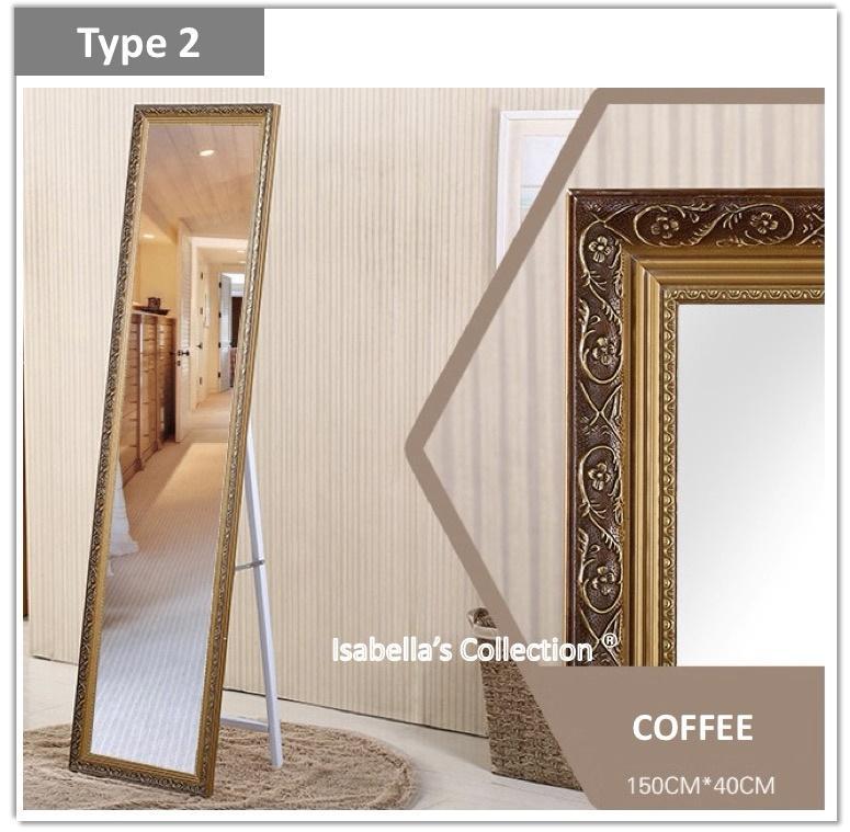 [Hush Gecko]150cm*38cm Full Length Mirror Pine Wood Frame